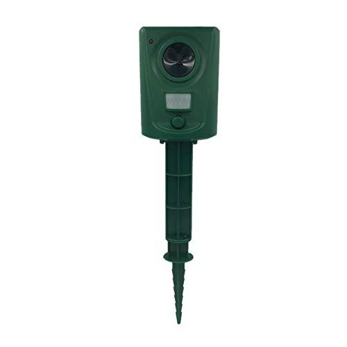 ACAMPTAR Tier Vertreiber Solarlicht Vogel Vertreiber Erschrecken Tiere Induktion Ultraschall Blitzlicht Alarm Anlage