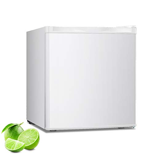 R.W.FLAME Mini Freezer Countertop, Energy Saving 1.1 Cubic Feet Single Door Compact Upright Freezer with Reversible Door(White)