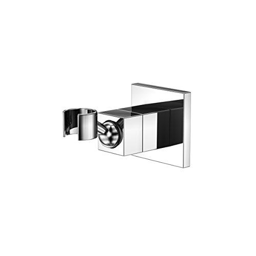 Steinberg 120 1665 Premium Duschkopf-Halterung mit integriertem Kugel-Gelenk und auf Hochglanz polierte Oberfläche in Chrom für Dusche und Bad Brausehalter