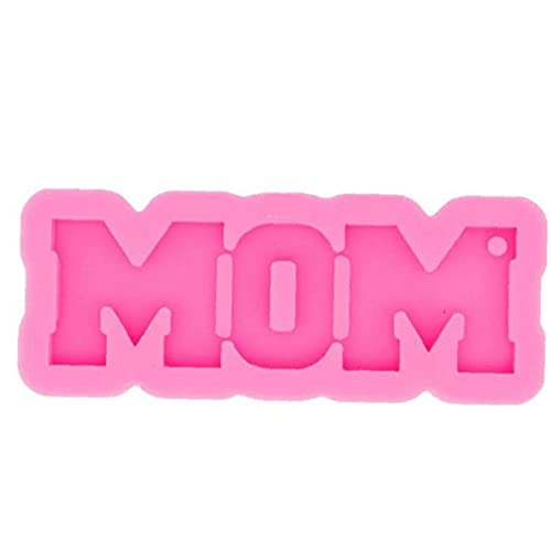 Runfon El Moho Llavero Día de la Madre Regalo Cera derretimiento del Molde de Silicona mamá Carta Palabra de moldes para el Bricolaje Etiqueta del Equipaje de los Pendientes de la Jalea del