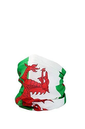 Ruffnek Walisische Flagge/Y Ddraig Goch Multifunktionale Kopfbedeckung Kragen, Schal, Kopftuch, Stirnband