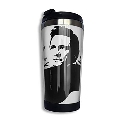 N/A NA Johnny Cash Isolierte Kaffeebecher Auslaufsichere Kaffeetasse Für Kaffee Tee Und Bier Isolierter Reisebecher