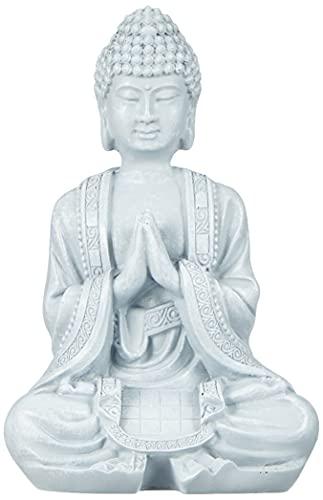 Zen'Light SBM2Figur, Buddha/Meditation 2, Stein, 10x 5x 12,5cm, Grau