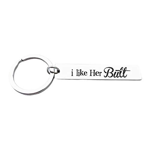Malinmay Couples Keychain, Stainless Steel Keychain Round Tag Engraved 'you are the meredith to.'