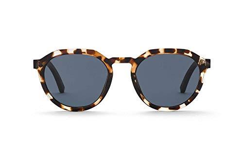 TAKE A SHOT Kleine Sonnenbrille aus Holz, Havanna Rahmen, Rückentspiegelung, Damen-Sonnenbrille, modisch besonders, Leomuster - SALMA