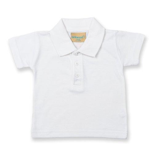 Polo Larkwood de manga corta para bebé, unisex blanco blanc