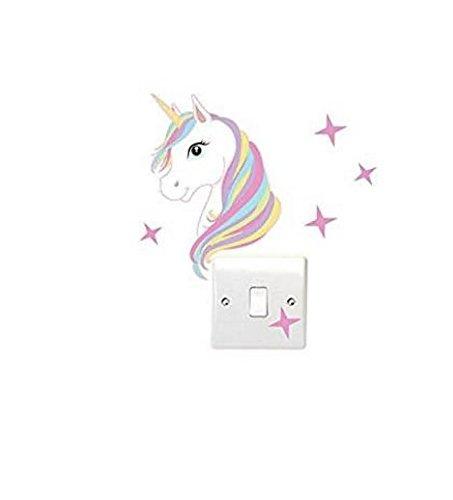 Boheng - Adhesivo decorativo para interruptor de luz, diseño de unicornio