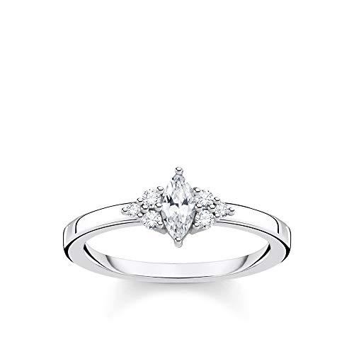 THOMAS SABO Damen Ring Vintage weiße Steine Silber 925 Sterlingsilber TR2325-051-14