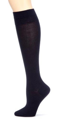 """Nur Die Damen Kniestrumpf Blickdicht 495942/Da \""""Bambus Knie\"""" Baumwoll Kniestrümpfe Knie\"""",  blau (maritim 190),  Gr. 39-42"""