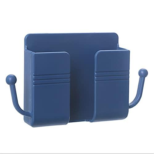 Baishi Control remoto teléfono móvil enchufe pared titular auto-sacador libre almacenamiento rack multiusos hogar