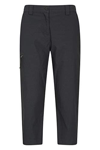Mountain Warehouse Hiker Stretch Womens Trousers - UV Protection Ladies Pants, Quick Drying Bottoms, Multiple Pockets - Best for Outdoors, Picnic, Parks Noir 36