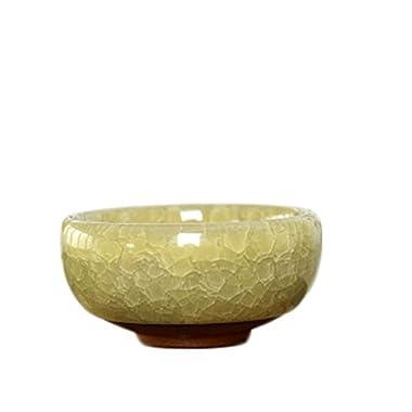 Elibeauty Mini Succulent Plant Frozen Glazed Ceramic Pots Flower Plant Pot Container with Hole … (H07)
