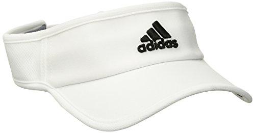 adidas Men's Adizero II Visor, White/Black, One Size