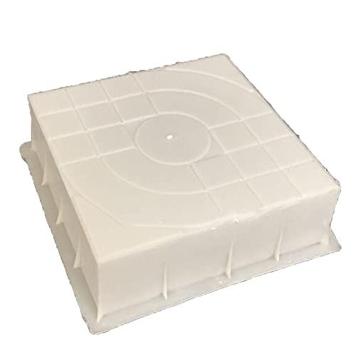 WGGTX 40x40x8cm Moldes de pavimentación de plástico Molde de ladrillo de Cemento Molde de Camino de jardín Cuadrado Talla 3D Hormigón Antideslizante