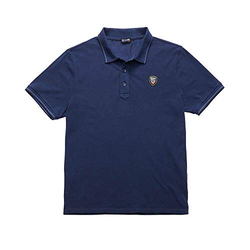 Blauer Uomo Polo Piquet Leggero 19SBLUT02174 4865 883, Blu Navy, L