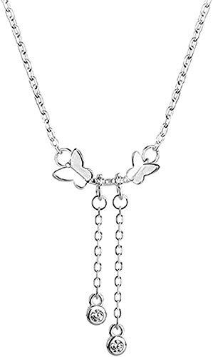 Collar Collar de mariposa para mujer Borla Gargantilla de circón Collar Regalo de novio