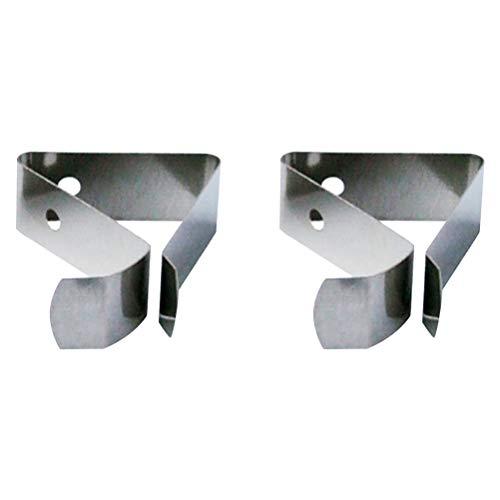 Hemoton 2 stücke Edelstahl Thermometer Halter Sonde Clip Küche Werkzeug für Friteuse Kaffeekanne (Typ 3)