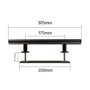 Barn Door Handle Pull Set: 12''Black Stainless SteelPull And Flush Hardware, For Interior And Exterior Doors, Rust Resistant, Large Handle For A Strong Grip, Easy To Install