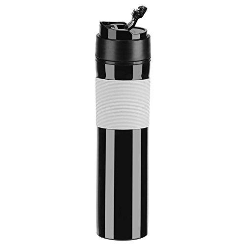 350ml Portable Mini Espresso Maker Hand Held Pressure Caffe Espresso Machine Compact Manual Coffee Maker for Home Office Travel Outdoor(Black)