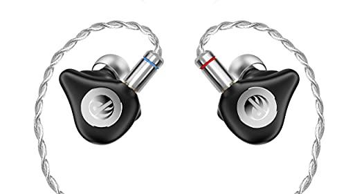 DETHONRAY Tender I HiFi Planar Magnetic Earphone IEMs with MMC 2 Pin Detachable Cable (Black)