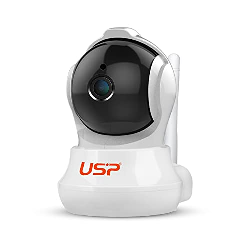 USP - SH020 Pan/Tilt Wireless WiFi 3MP Full HD 1296p | IP Security Camera | CCTV with Auto Tracking - White