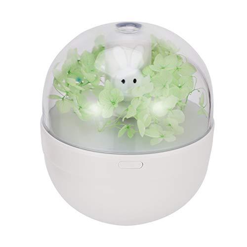 TOOGOO Humidificador de Aire de Batería 220ML Difusor de Conejo HumidificacióN Recargable USB Aroma Difusor de Aceite Esencial Enfriar Fabricante de la Niebla Nebulizador Verde
