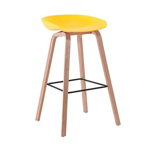 Jhgu Comfort-Retro-stoelen, barkruk, kruk, barkruk, achterkant, barkruk, barkruk, keuken, eettafel, stoel met voeten van massief hout, geschikt voor familie en apa 49×45×64cm