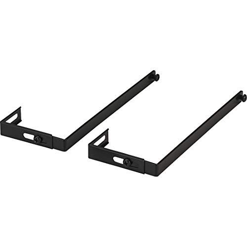 Officemate Universal Partition Hanger Set, Adjusted to fit panels with 1 1/4 inch to 3 1/2 inch thickness, Metal Black (21460)