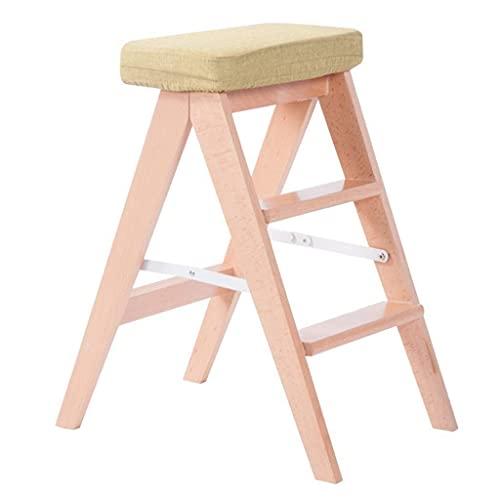 LJWJ Ladders telescopische ladder draagbare inklapbare stapkrukken, ladder vouwkruk/3 rolladder, houten zittingspons…
