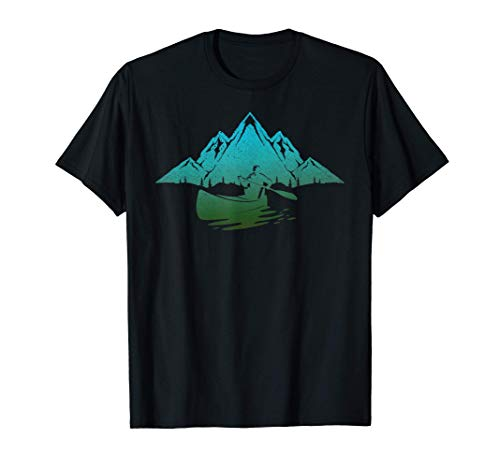 Outdoor Sport Gebirge Kajaking Kanu Fahren Kanut Kajak T-Shirt