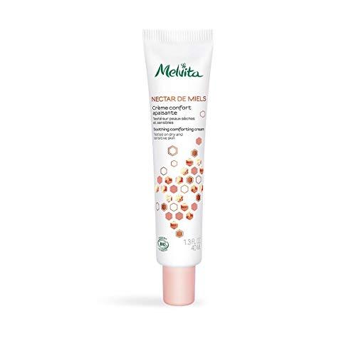 Melvita - Fluide Visage Nourrissant Nectar de Miels - Au miel de Thym Bio - Soin Réparateur Apaisant - Peaux sèches et sensibles - Certifié Bio, Vegan, Naturel à 99% - Tube 40ml