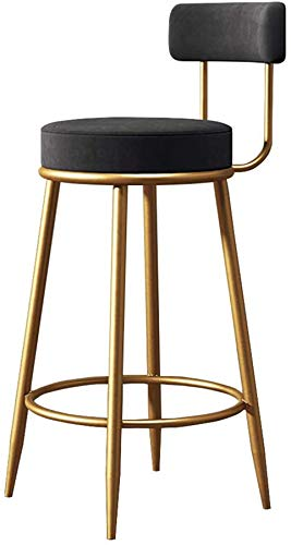 High Stools JHOME Barstools 25'/29' Contemporary Velvet Upholstered Kitchen Dining Chair, Sponge Backrest and Footrest, Bar Counter Chair for Pub Café Bistro Restaurant Bar Chair Max. Load 400l