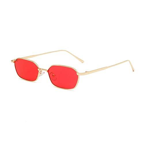 Gafas de Sol Gafas De Sol Poligonales De Moda para Mujer, Gafas De Sol Pequeñas Vintage De Metal para Hombre, Gafas De Lente Coloridas De Marca De Lujo, Uv400 C5