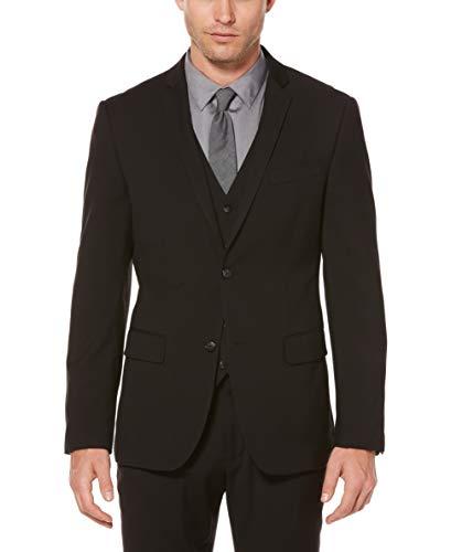 Perry Ellis Men's Slim Fit Solid Jacket, Black, Small/Regular-38