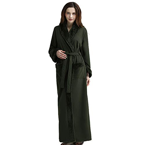 Albornoz de camisón para Mujer más Albornoz de Terciopelo Albornoz de Pijama de una Pieza para Hombres y Mujeres