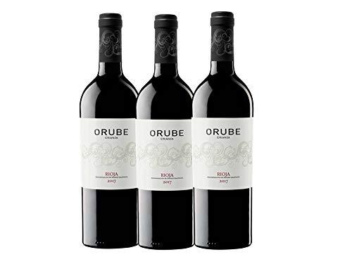 Orube Tinto Crianza - Vino Tinto Rioja - 750 ml - Pack de 3 botellas - 2250 ml
