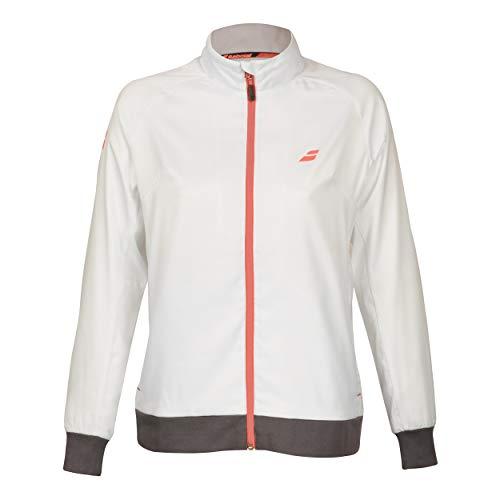 Babolat, Core Club Trainingsjacke Mädchen-Weiß, Dunkelgrau, 140 Vestes Garçon, Blanc, 140 cm