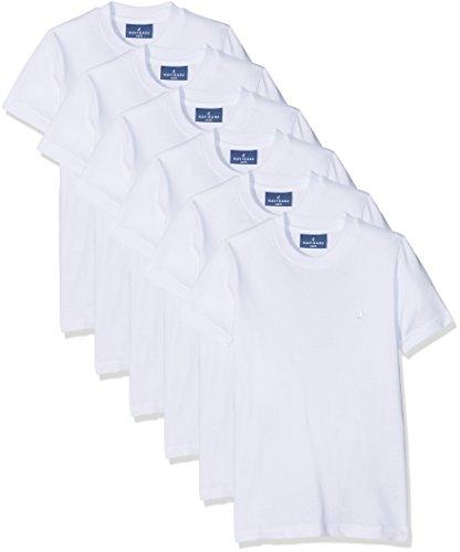 Navigare 13020 Maglietta Intima, Bianco, 3-4 anni (Taglia produttore:3), Pacco da 6, Bambino