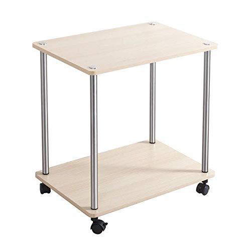 Möbel Accent Canopy Beistell-Tische mit Storage Rack Roll Casters Beistellschränke des modernen Sofa den kleinen runden Tisch aus Schmiedeeisen Couchtisch aus Glas Beistelltisch Kleines seitliches Kab
