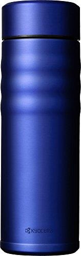 京セラ 水筒 500ml セラミック 塗膜加工 真空断熱 スクリュー栓 コーヒー ロイヤルブルー Kyocera CSB-S500-BRBU