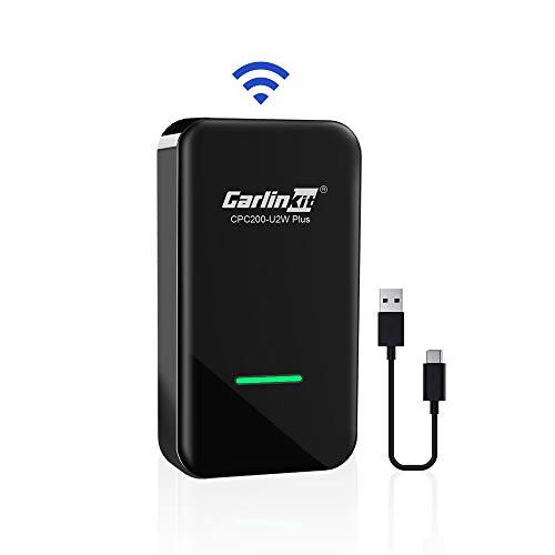 CarlinKit 2.0 Wireless CarPlay Adapter,Geeignet für eingebautes CarPlay Audi/Volvo/VW/Hyundai/KIA/Mazda,Plug-and-Play-Unterstützung ios13/14, Type A/C Konvertieren Sie Wired in Wireless Carplay