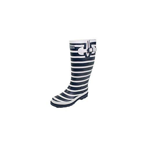 HUBLOT Grêle Marineblau/weiß - Stiefel Damen 36 Marineblau/weiß