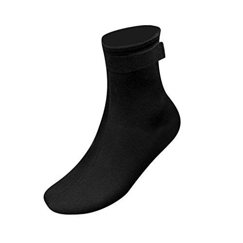 Fenteer 3mm Dicke Neopren Socken Wassersport Socken Strand Schuhe Socken - Schwarz, M