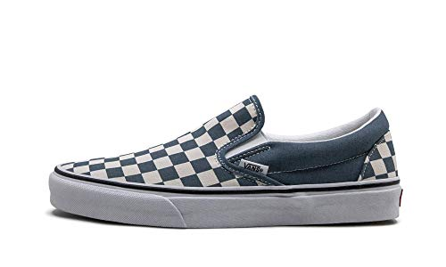Vans Classic Slip-On (Checkerboard) Blue Mirage/True White Men's 6.5, Women's 8 Medium