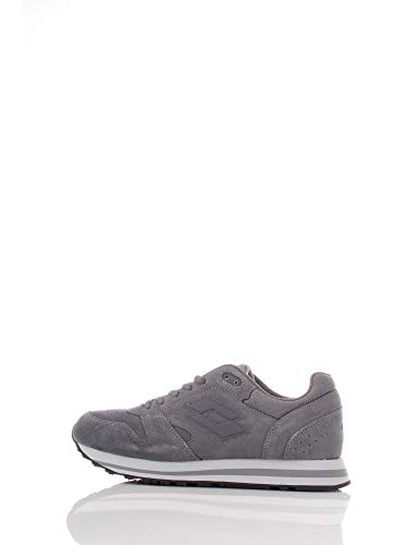 Life's By Lotto T6502 Trainer XII Sue Grey CEM/Asphalt Sneakers Man Uomo Grigio (44 EU)