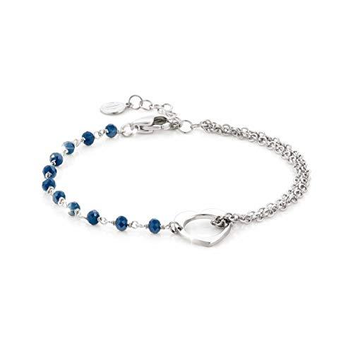 Nomination Armband Herz aus Silber, Edelstahl und Steine