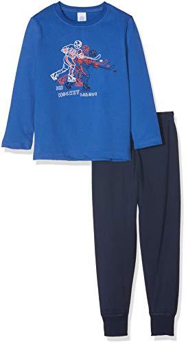 Sanetta Jungen Pyjama Long Zweiteiliger Schlafanzug, Blau (Saphir 5145.0), 92