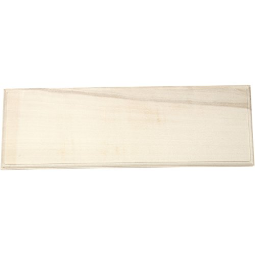 Namensschild aus Holz, Maße 10 x 30 cm, Stärke 1 cm, Polargrün, 1 Stück