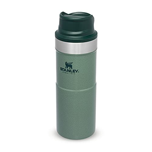 Stanley Trigger Action Travel Mug 0.35L / 12OZ Hammertone Green – Leakproof - Tumbler for Coffee, Tea and Water - BPA Free - Stainless-Steel Travel Cup - Dishwasher Safe -