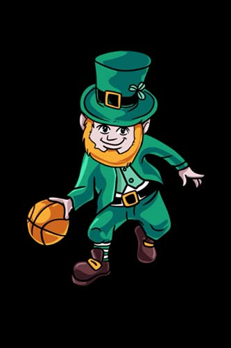 Leprechaun Basketball Irish Team Outfit St. Patricks Day: Notebook | Notepad | 100 Pages dot grid Sketchbook | Ideal for small drawings or short notes ... logbook for businessmen with this notebook.